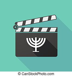 Long shadow clapperboard with a chandelier - Illustration of...