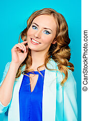 aquamarine - Bright summer style Pretty young woman with...
