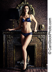 alluring sexy girl - Stunning girl in sexy lingerie alluring...