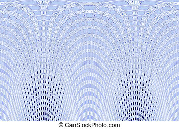 Abstract shaped computer graphic - White and blue abstract...