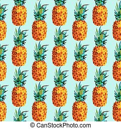 Colorful pineapple summer pattern in modern style