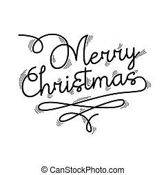 Merry christmas text quote lettering design - Merry...