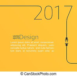 New year 2017. - 2017 - New year. Abstract line vector...