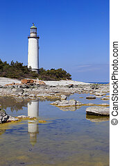 Lighthouse at Faro in the Swedish province of Gotland.