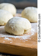 Billets dough for baking buns.