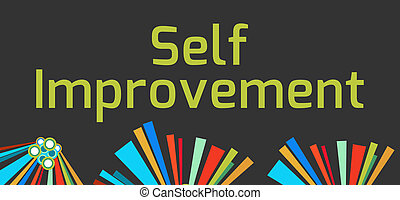 Self Improvement Dark Colorful - Self Improvement text...