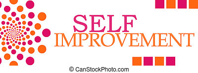 Self Improvement Pink Orange Dots - Self Improvement text...