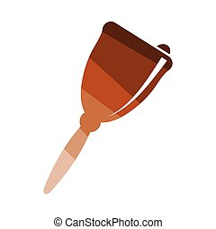 School hand bell icon. Flat color design. Vector...
