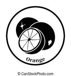 Icon of Orange Thin circle design Vector illustration