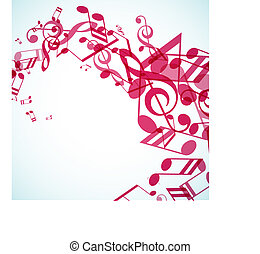 Abstract background with tunes