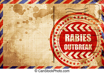 Rabies virus concept background with some soft smooth lines,...