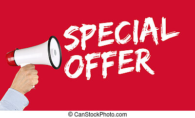 Special offer sale shopping shop retail megaphone - Special...