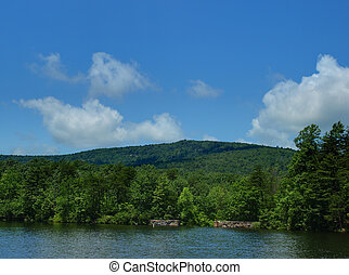 Hanging Rock State Park - Lake view at Hanging Rock State...