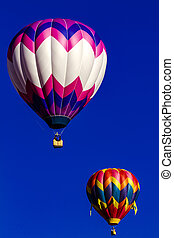 Rocky Mountain Hot Air Balloon Festival - Several brightly...