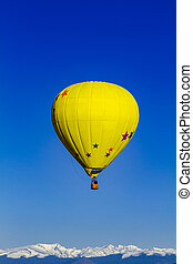 Rocky Mountain Hot Air Balloon Festival - Yellow hot air...