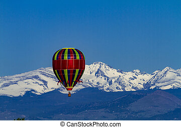 Rocky Mountain Hot Air Balloon Festival - Brightly colored...