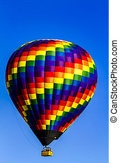 Hot Air Balloon Festival - Brightly colored hot air balloon...