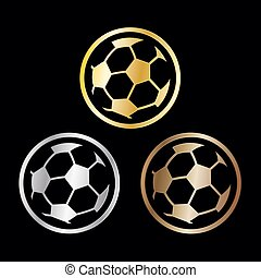 Three winners awards for the soccer championships - Three...
