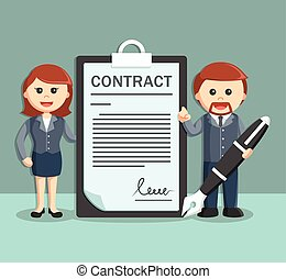 businessman and businesswoman with