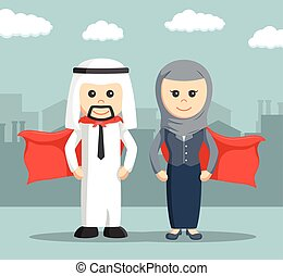 businessman super and businesswoman super of arab