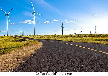 Environmentally friendly power generation wind power...