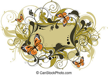 Abstract floral banner.