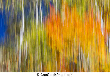 Fiery Fall - Abstract landscape of colorful autumn forest...