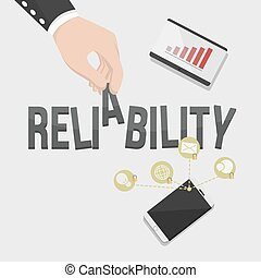 reliability illustration  illustration design