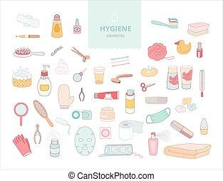 higiene, elementos