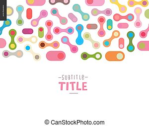 Colorful design banner - Colorful template design mockup...