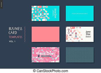 business card template volume 1