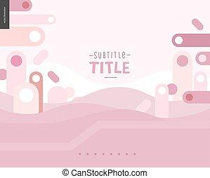 Pink design landscape template - Pink landscape template...