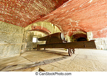 Cannon at Fort Knox - Maine - Cannon at Fort Knox on the...