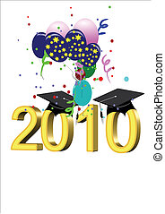 grad vector on white for 2010