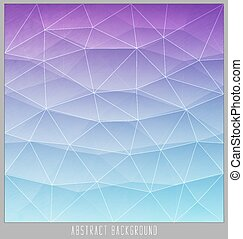 Abstract geometric polygon facet background mosaic made by triangles.