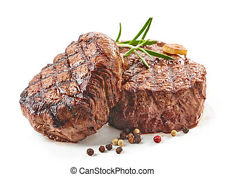 grilled beef steaks