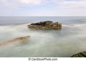 Thunder Hole - Acadia National Park - The rocky coast in...