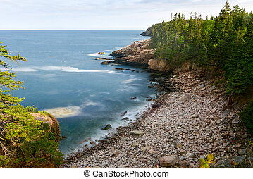 Acadia National Park Coast - Rocky coast of Monument Cove in...
