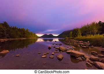 Jordan Pond in Acadia National Park - The Bubbles and Jordan...
