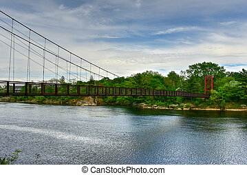 Androscoggin Swinging Bridge - Maine - The Androscoggin...