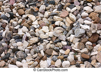 stone macadam - background of stone macadam of different...