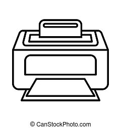 Modern laser printer icon, outline style - Modern laser...