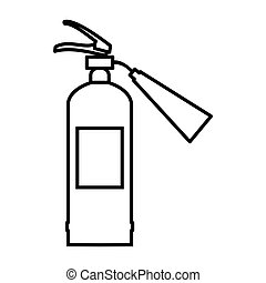 Fire extinguisher icon, outline style - Fire extinguisher...