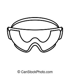Safety glasses icon, outline style - Safety glasses icon in...