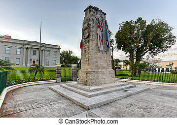 Bermuda Cenotaph - The Bermuda Cenotaph located outside the...