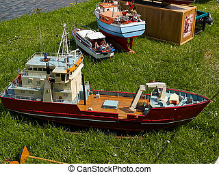 Model boat boating hobby leisure time outdoors activity