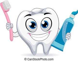 Tooth Holding Toothbrush and Paste