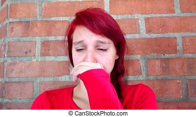 Teen Girl Distressed And Tearful