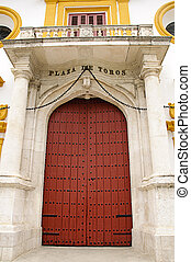 Seville bullring - Main entrance door - Plaza de toros de la...