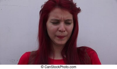 Sad Young Tearful Teen Female